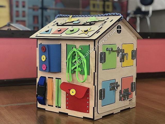 Бизиборд домик со светом, бизиборд домик купить, бизидомик, бизиборд дом