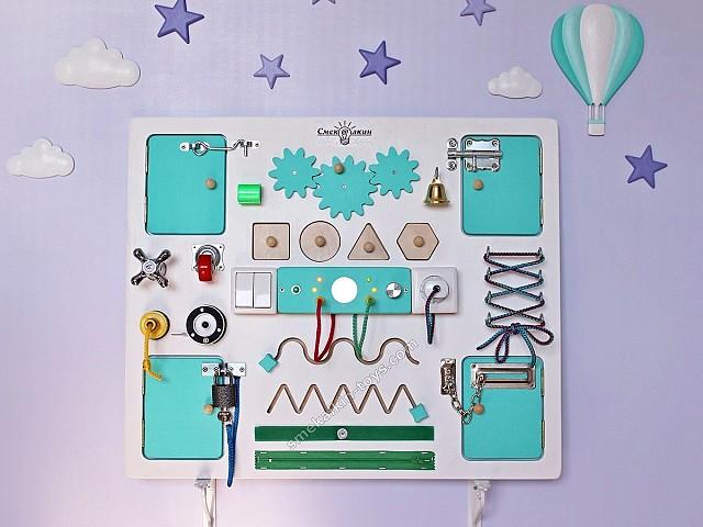 развивающая доска с замочками и кнопочками, развивающая доска бизиборд для детей купить