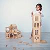 Деревянный конструктор на магнитах, деревянный конструктор домик, деревянный конструктор для детей