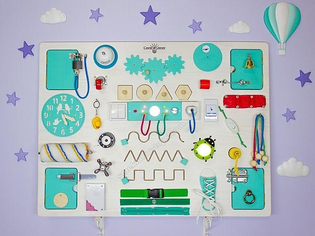 Бизиборд макси классик Смекалкин, бизиборд для мальчика, настенные игрушки
