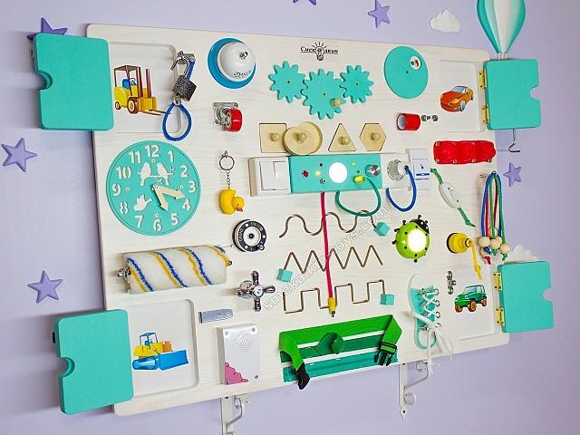 Бизиборд макси классик Смекалкин, купить подарок ребенку на день рождения