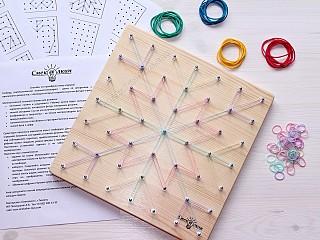 математический планшет, доска с резиночками