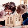 детский магнитный конструктор деревянный, конструктор домиков