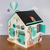 Бизиборд домик Смекалкин, бизи дом, бизидом, бизиборд в виде домика, бизи дом для детей