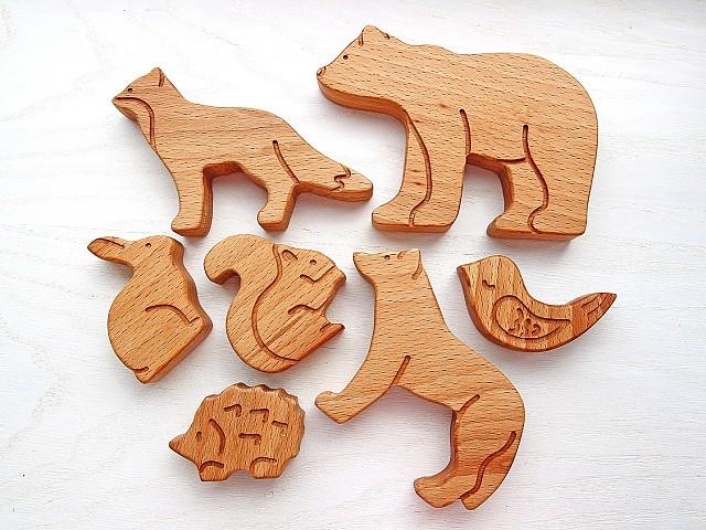 фигурки зверей, купить фигурки животных для детей, набор фигурок животных, животные лесной зоны