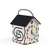 сенсорная подсветка в бизиборде, бизидомик с сенсорной подсветкой, маленький бизиборд домик, бизидомик в подарок