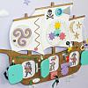 Тематический Бизиборд Корабль для кафе, игровых зон, детского сада от мастерской Смекалкин