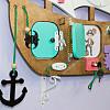 Бизиборд Пиратский Корабль с якорем