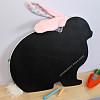 бизиборд с меловой доской в форме кролика